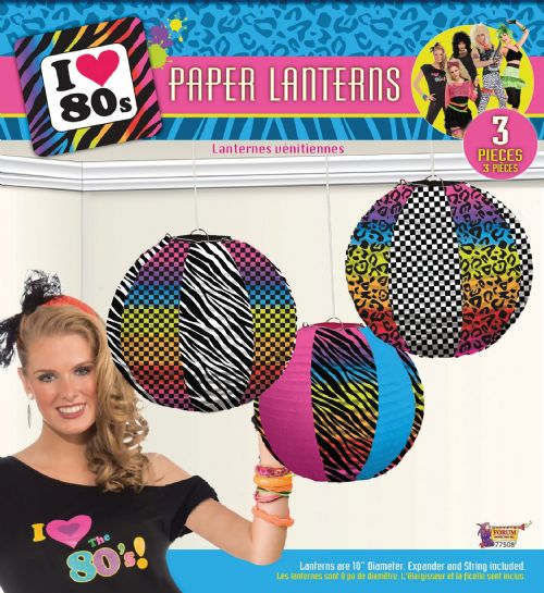 80s Party Paper Lanterns 80s Disco Pop Retro Favour